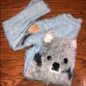 fluffy koala zara sweater